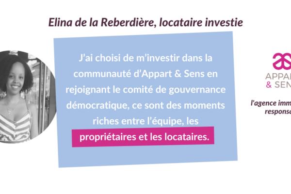 Portrait de locataires investi.e.s #1 : Elina de la Reberdière