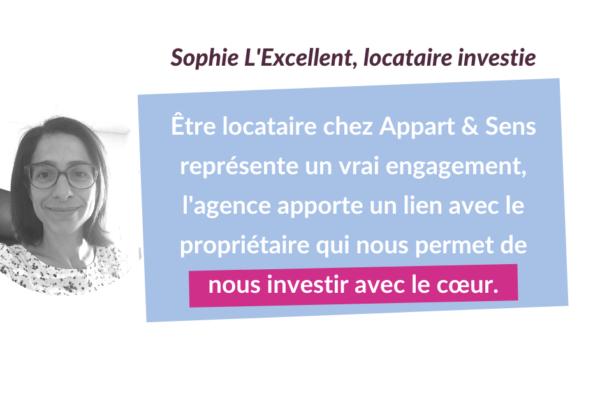 Portrait de locataires investi.e.s #2 : Sophie L'Excellent